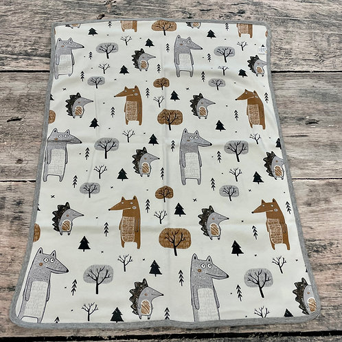 Forest Critters Stroller Blanket