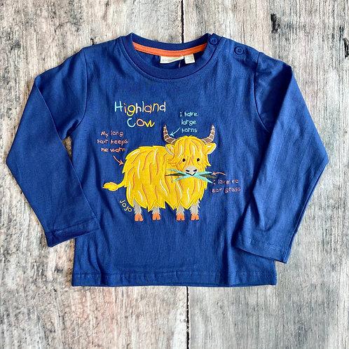 Highland Cow Top Indigo