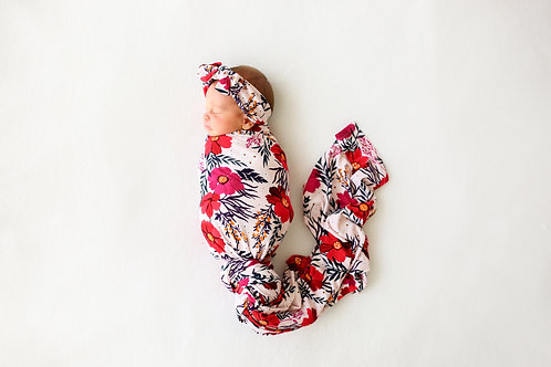 Chloe Swaddle with Headband set