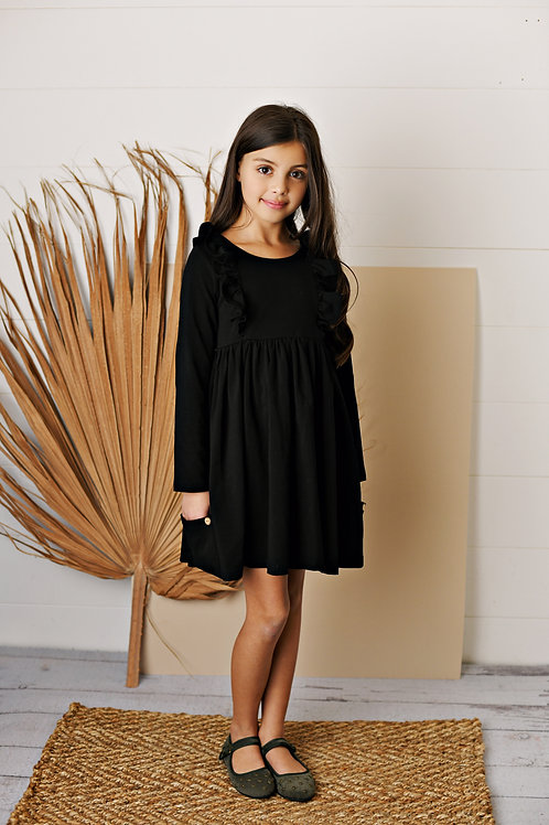 Black Bella Pocket Dress
