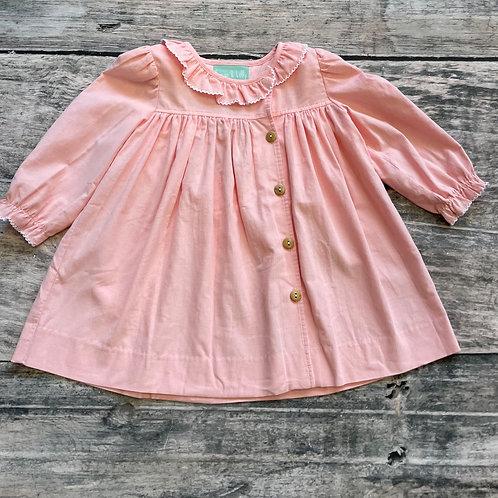 Side Button light pink dress