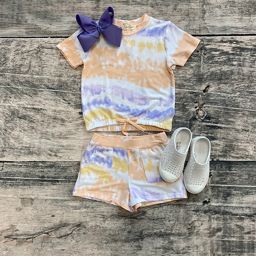Tie Dye French Terry Short Set