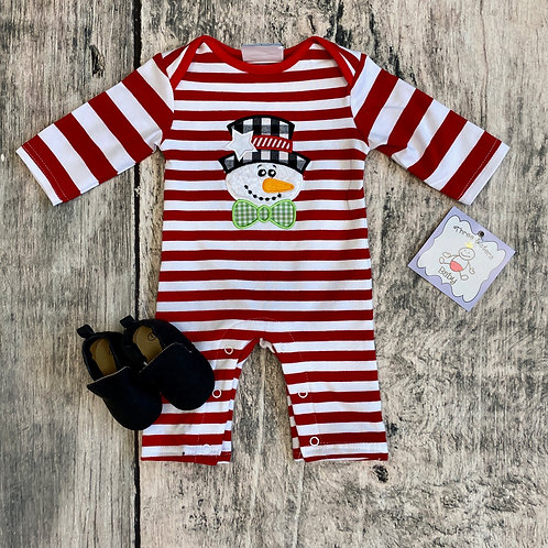 Frosty Appliqué Boys Romper