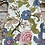 Thumbnail: Floral Tapestry footed romper with hat