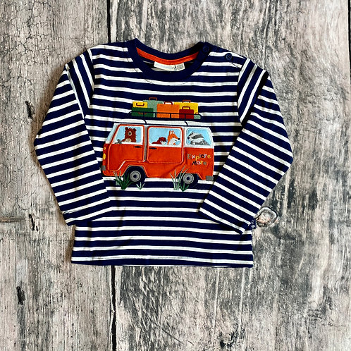 Woodland Campers Top Navy/Ecru