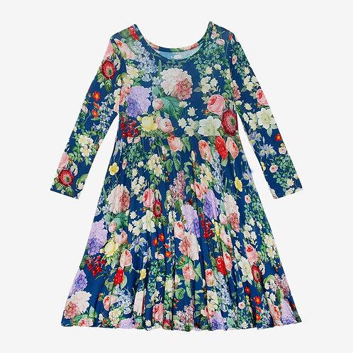 Carmen Long Sleeve Basic Twirl Dress