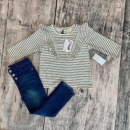 Stripe top w/jeans