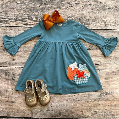 Pumpkin Appliqué Dress