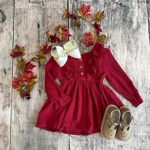 Claire Long Sleeve Dress Cinnamon