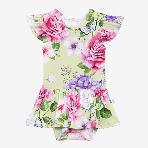 Georgina Ruffled Capsleeve Twirl Skirt Bodysuit