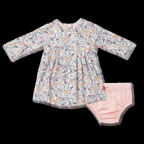 Sheffield Organic Cotton Magnetic Dress & Diaper Cover Set