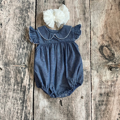 Carolina Chambray Angel Wing Bubble