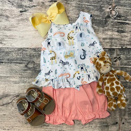 Safari Knit Bloomer Set