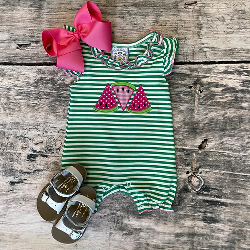 Watermelon appliqué Romper