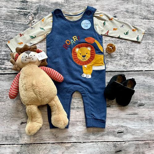Lion Appliqué Dunagree Set