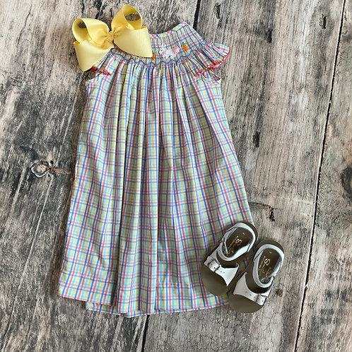 Smocked Bunny Bishop Dress