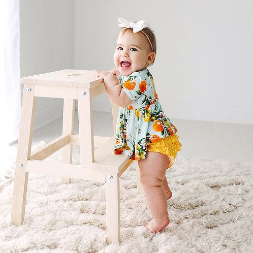 Mirabella Short Sleeve Henley Peplum Top & Bloomer Set