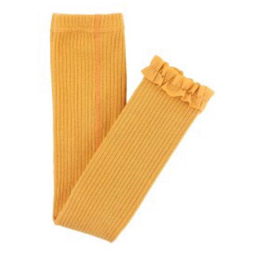 Honey Ribbed Footless Tights