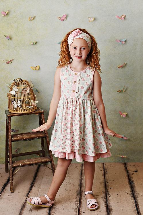 Pink Rose Dress w/Shortie