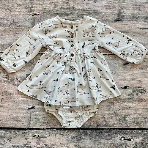 Kai Dog & Hummingbird Dress/Bloomer set