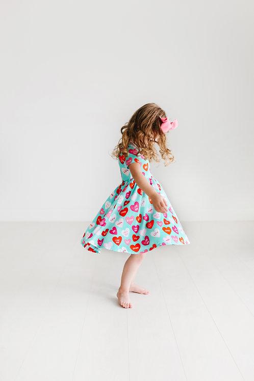 Valerie Short Sleeve Basic Twirl Dress