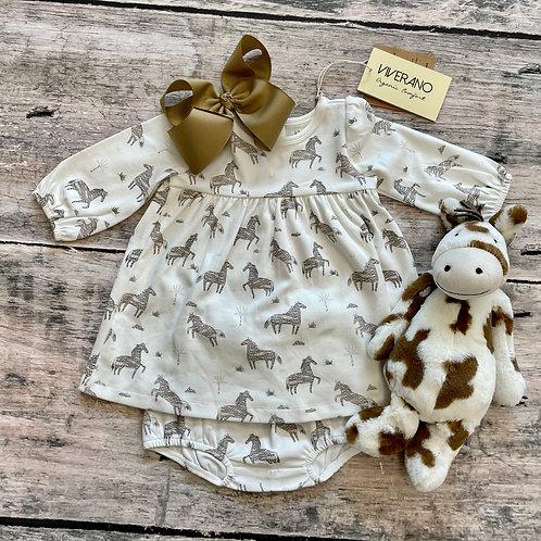 Wild & Free Horse Dress/Bloomer set