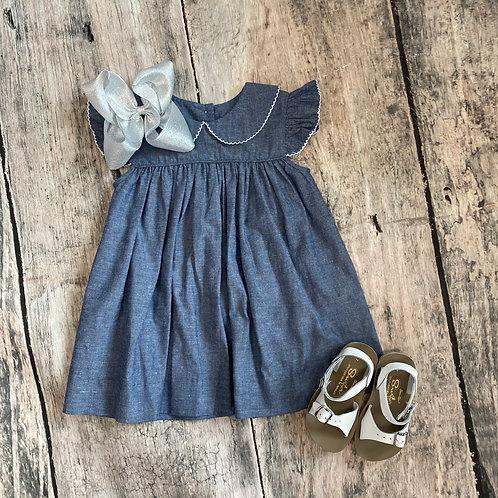 Carolina Chambray Angel Wing Dress