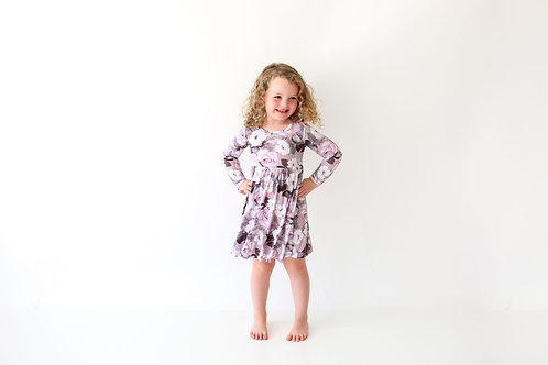 Nikki Long Sleeve Twirl Dress