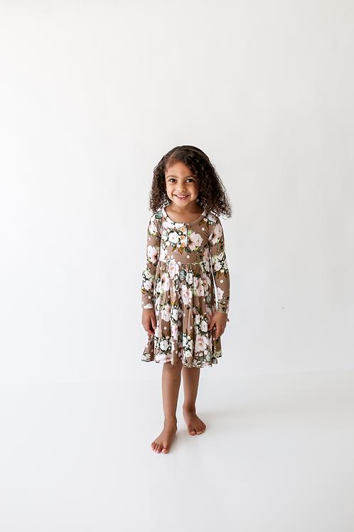 Leona Long Sleeve Twirl Dress
