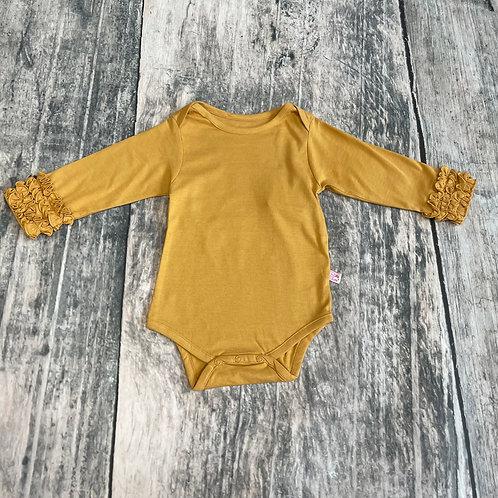 Honey Ruffled Long Sleeve Layering Bodysuit