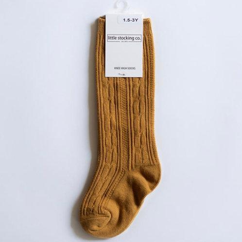 Knee High Socks-Mustard