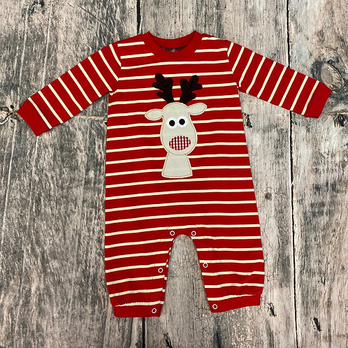 Rudolph Applique Romper-boys