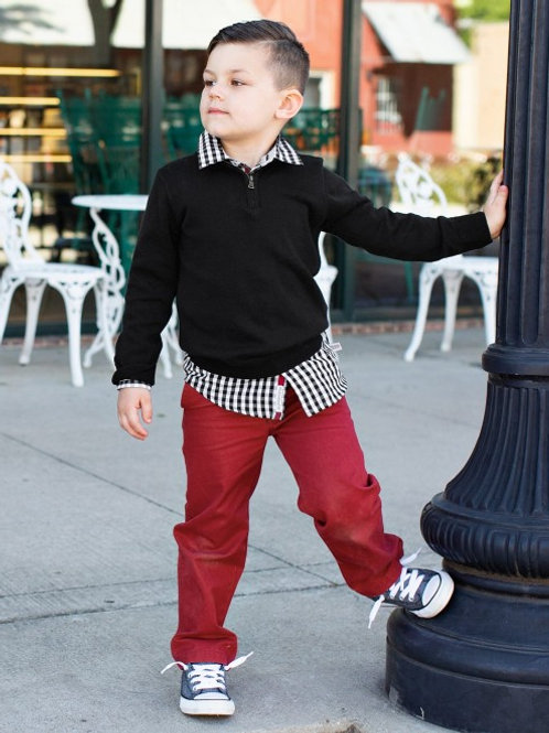 Black Quarter Zip Sweater