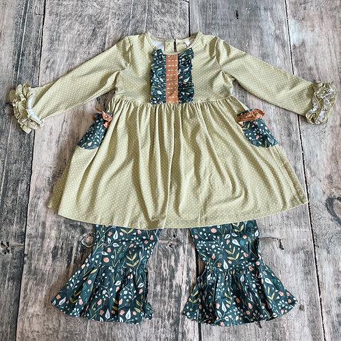 Fall Ruffle Dress Set