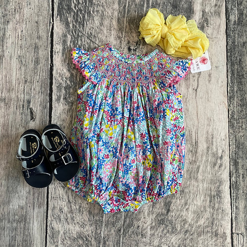 In Full Bloom Smocked Geo Bubble