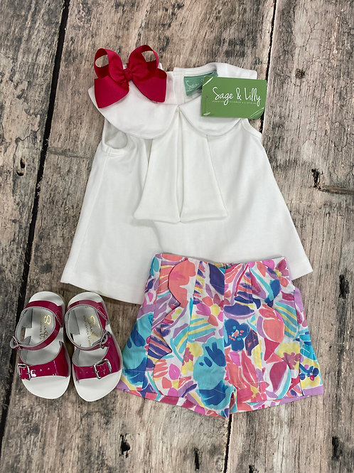 Parfait Pink Sailor top w/shorts set