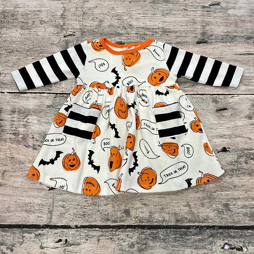 Bats & Pumpkins Pocket Dress