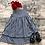Thumbnail: Pretty Gingham Dress Navy