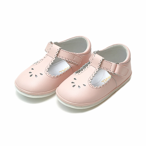Dottie Scalloped Perforated Mary Jane Pink