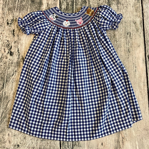 Farm Life Smocked Bishop Dress