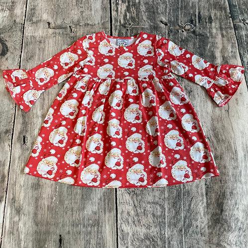 Santa Knit Bell Sleeve Dress