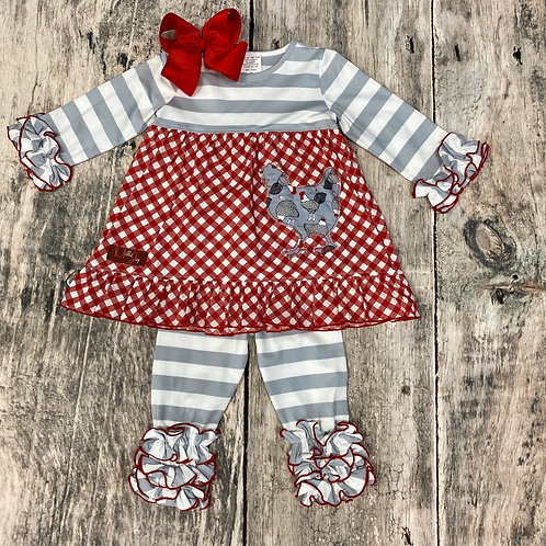Chicken Little Appliquéd Top & Legging set