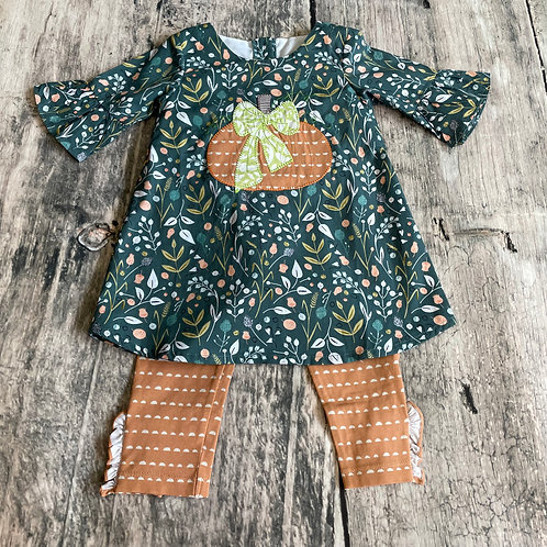 Pumpkin Peasant Dress Set