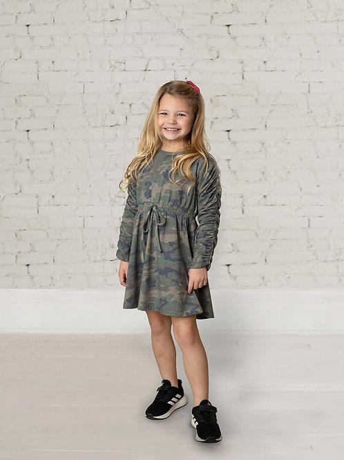 Mini Explorer Knit Camo Dress