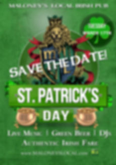 Maloney's Local St Patricks Day Save The