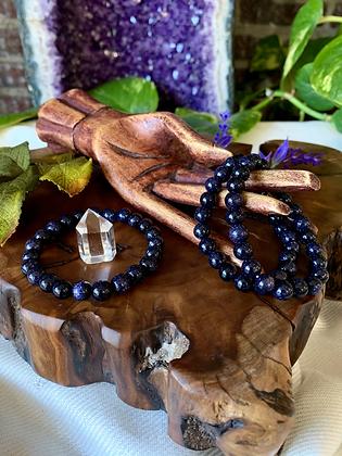 Purple Goldstone Healing Crystal Bracelet (8mm)