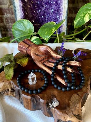 Matte Black Onyx Healing Crystal Bracelet
