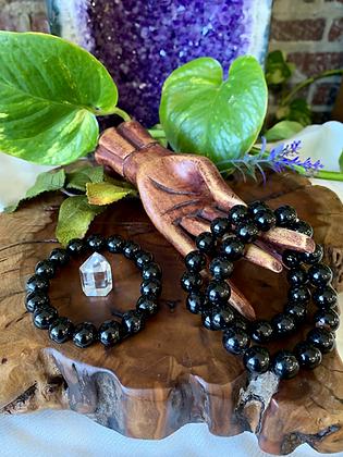 Black Tourmaline Healing Crystal Bracelet (12mm)