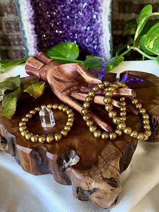 Gold Hematite Healing Crystal Bracelet
