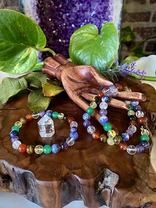 7 Chakra Healing Crystal Bracelet (8mm)